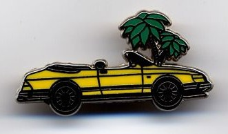 SAAB 900 CV French Launch Pin - Yellow
