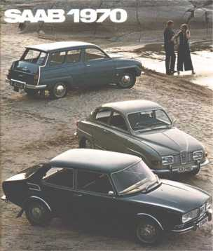 1970 saab 99 brochure cover